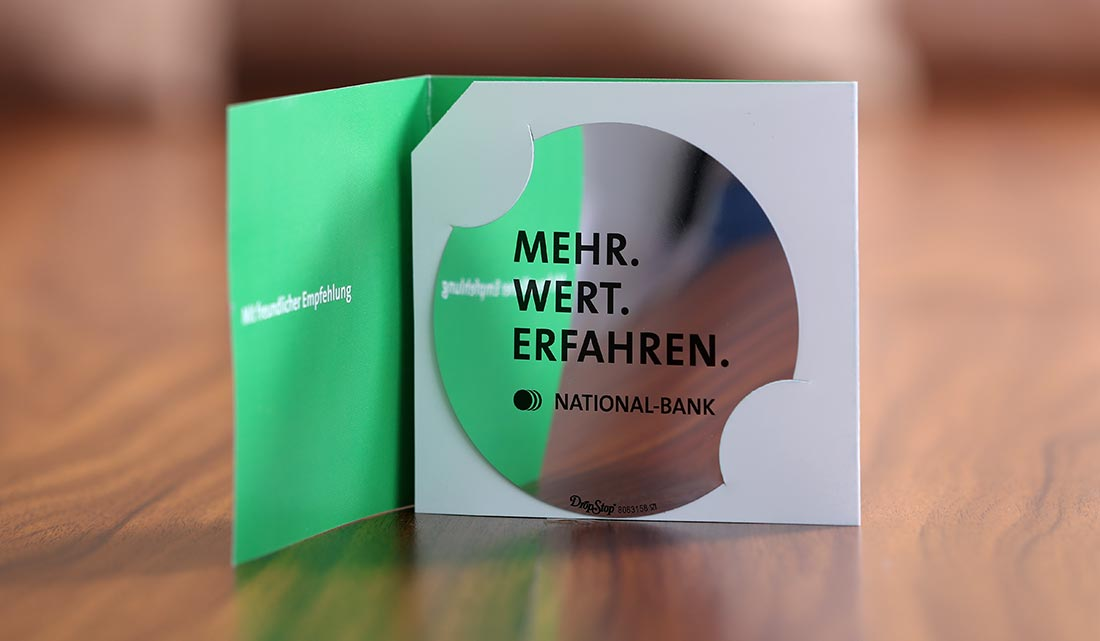 Werbeartikel Dropstop Nationalbank by dita moderna